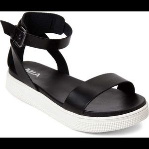 MIA Platform Black Sandal